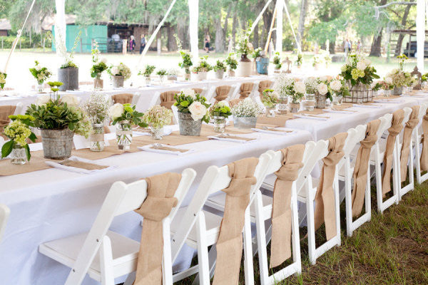 "20' Feet x 12"" Inch Burlap Table Runners - The Rustic Chic Boutique"