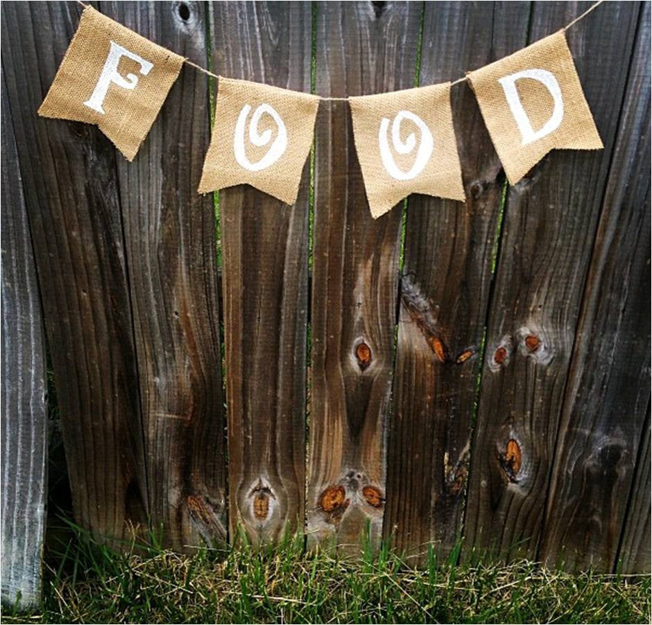 Burlap 'Food' Banner - The Rustic Chic Boutique