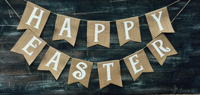 'Happy Easter' Burlap Banner - The Rustic Chic Boutique