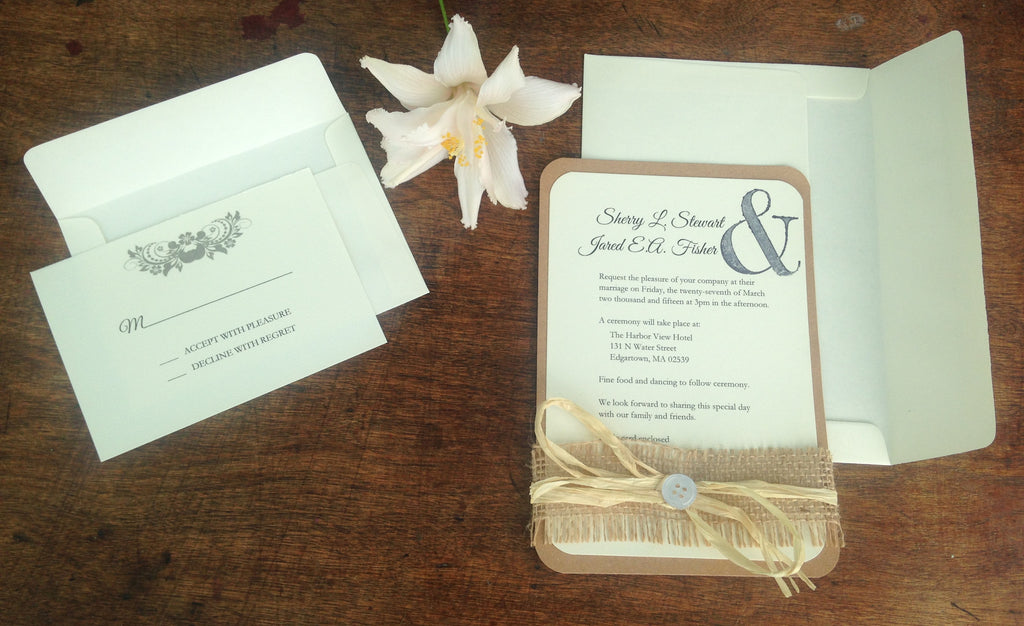 Customizable Wedding Invitation - The Rustic Chic Boutique