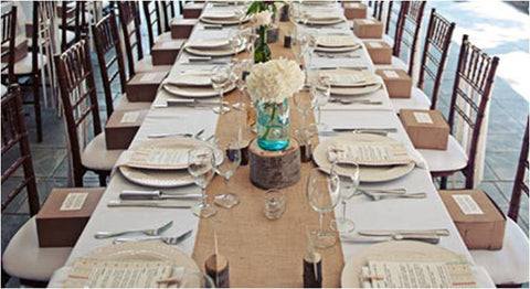"120"" x 12"" Inch Burlap Table Runners (Fit 8ft Long Tables)"