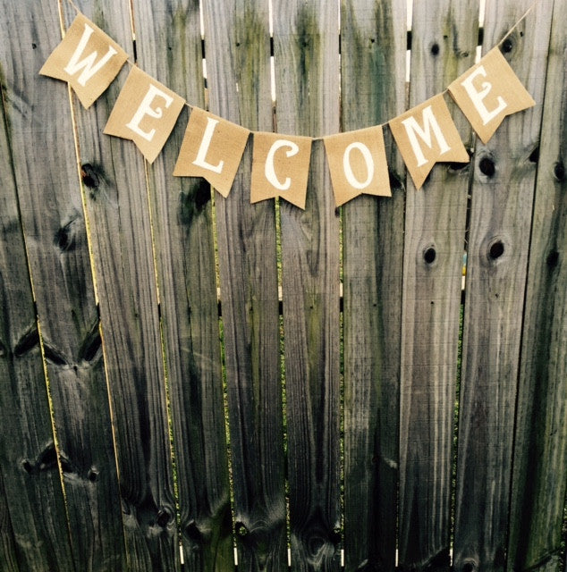 Burlap 'Welcome' Banner - The Rustic Chic Boutique