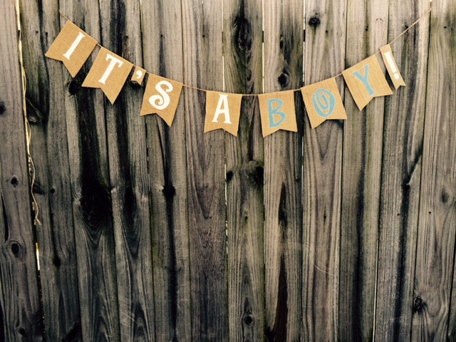 'It's A Boy!' Burlap Banner - The Rustic Chic Boutique