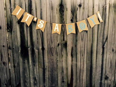 'It's A Boy!' Burlap Banner