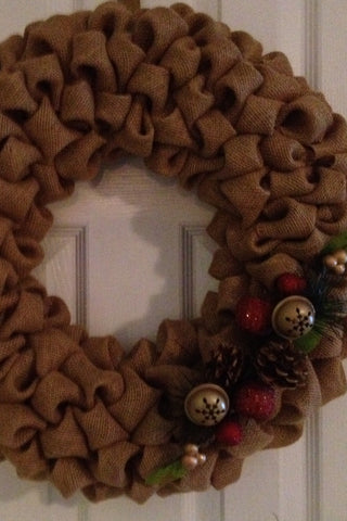 Burlap Holiday Wreaths