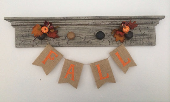 'Fall' Burlap Banner - The Rustic Chic Boutique