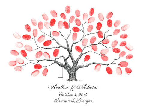 Inkpad 5-Pack for Fingerprint Tree Wedding Guest Book