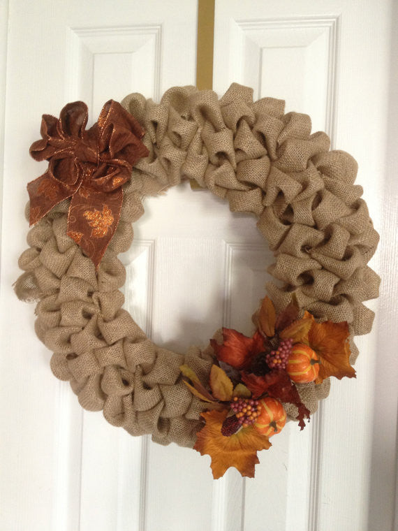 Fall Burlap Wreath - The Rustic Chic Boutique