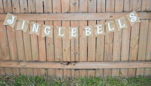 'Jingle Bells' Burlap Banner