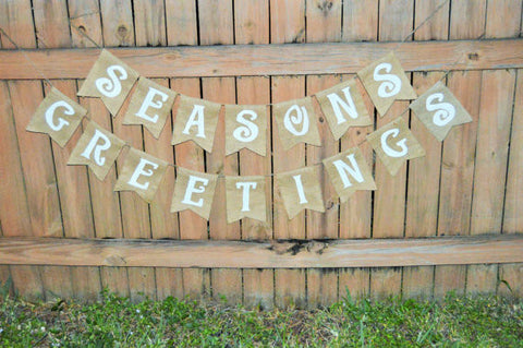'Season's Greetings' Burlap Banner