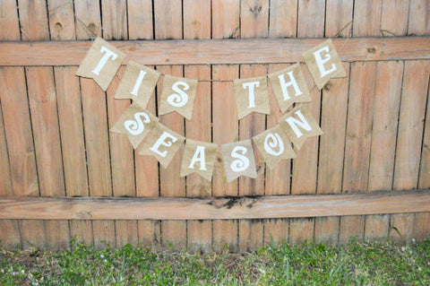 'Tis the Season' Burlap Banner