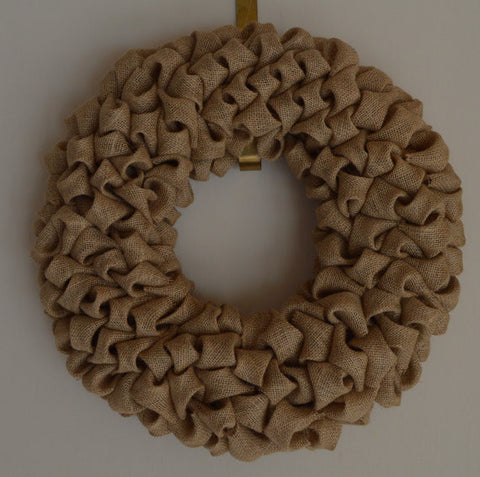Burlap Multi-Purpose Holiday Wreath