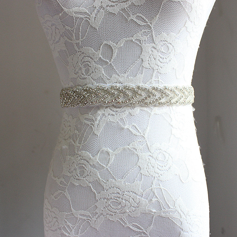 Kyunovia Crystal Wedding Belt - The Rustic Chic Boutique