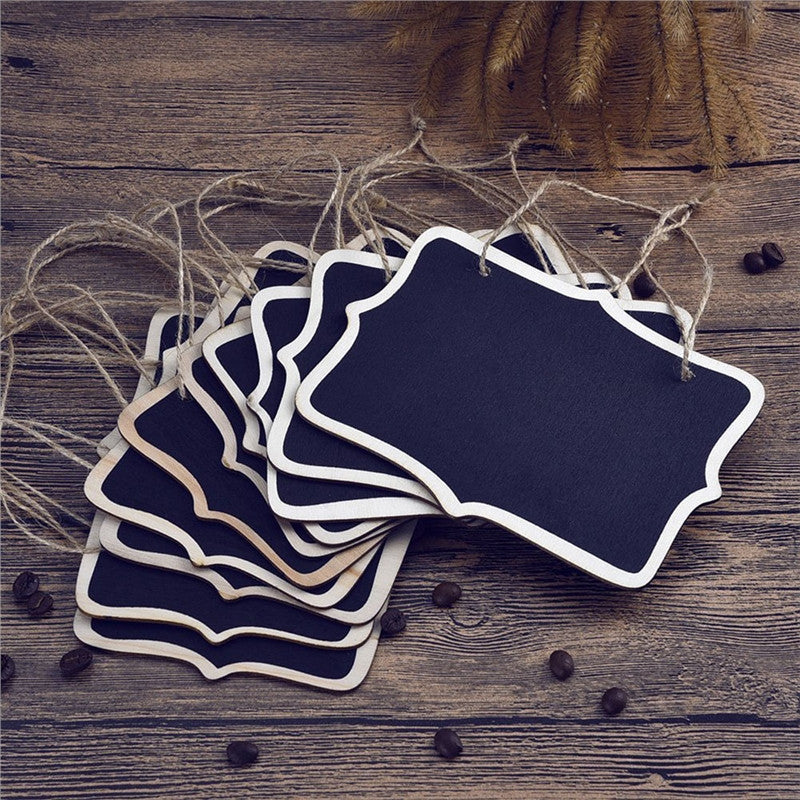 12pcs Mini Rectangle Chalkboards, Double Sided Message Boards - The Rustic Chic Boutique