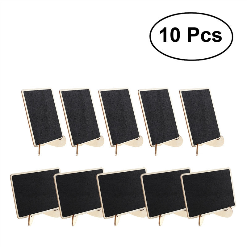 10pc Mini Rectangle Chalkboards with Support - The Rustic Chic Boutique