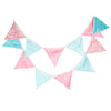 12 Bunting Cotton Flags - The Rustic Chic Boutique