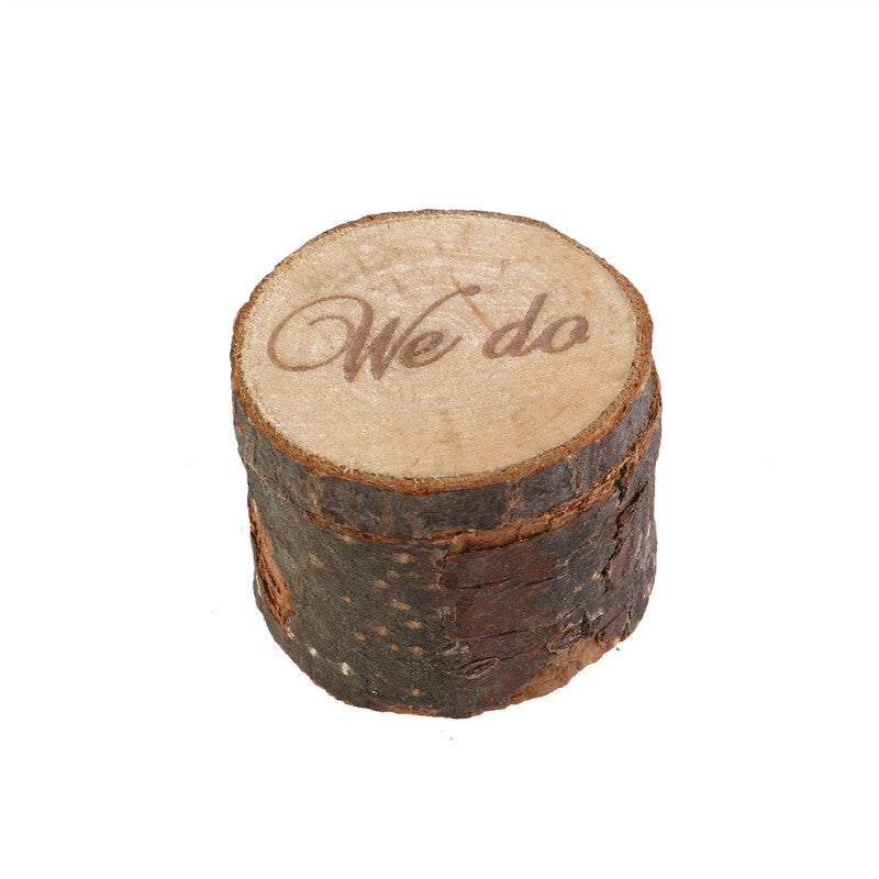 Wooden 'We Do' Ring Bearer Box - The Rustic Chic Boutique