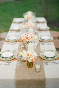 "60"" x 12"" Inch Burlap Table Runners"