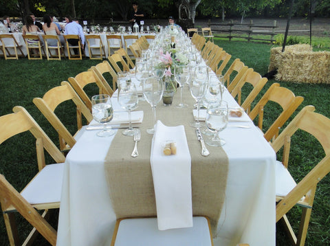 "120"" x 15"" Inch Burlap Table Runners (Fit 8ft Long Tables)"
