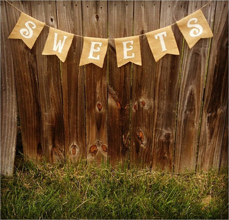 Burlap 'Sweets' Banner - The Rustic Chic Boutique