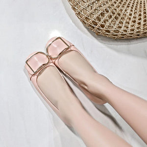 Girls Shallow Mouth Round-head Flat Shoes