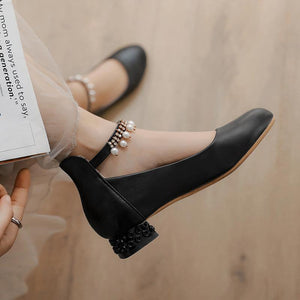 Women's Buckle Low Heeled Shoes