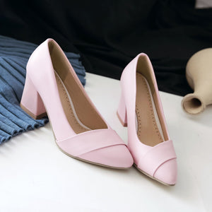 Pointed Toe High Heeled Shallow Pumps