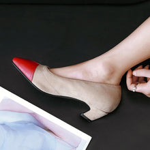 Load image into Gallery viewer, Girls's Shallow Low Heeled Pumps