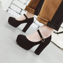 Load image into Gallery viewer, Super High-heeled Coarse-heeled Platform Women Pumps