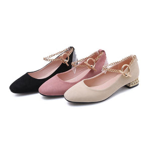 Women's Chains Low Heeled Shoes