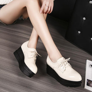 Girls Woman's Loafer Platform Flat Shoes