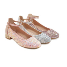 Load image into Gallery viewer, Women's Sweet Sequin Low Heeled Shoes