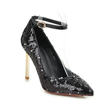 Load image into Gallery viewer, Super Stiletto Heel  Sequined Wedding Shoes Club Party