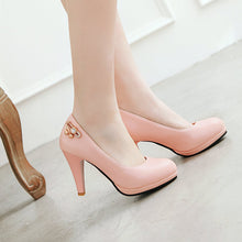 Load image into Gallery viewer, Women's Shallow Mouth High Heel Chunkey Pumps Shoes