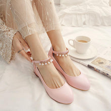 Load image into Gallery viewer, Women's Buckle Low Heeled Shoes