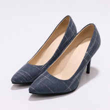 Load image into Gallery viewer, Simple Spring and Autumn Spike Heel Shallow Pointed Toe Women Shoes