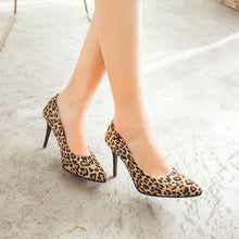 Load image into Gallery viewer, Stiletto High Heels Shallow Mouth Leopard Print Women Pumps