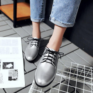 Woman's Casual Square Low Heels Shoes