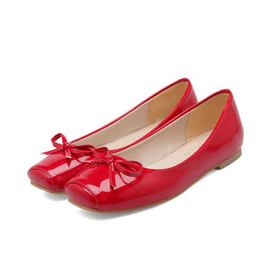 Girls Woman's Square Head Flat Shoes