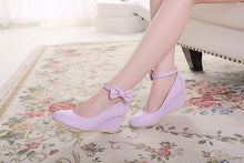 Load image into Gallery viewer, Casual Women's Bow Buckle Platform Wedges Shoes