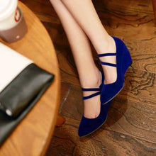 Load image into Gallery viewer, Casual Women's Butterfly Knotted Platform Wedges Shoes