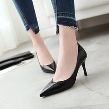 Load image into Gallery viewer, Patent Leather Stiletto Heel  Stiletto Heel  Pumps