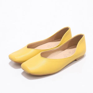 Girls Woman's Casual Square Head Flat Shoes