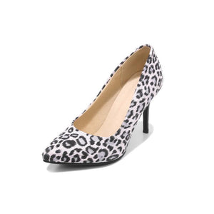 Stiletto High Heels Shallow Mouth Leopard Print Women Pumps