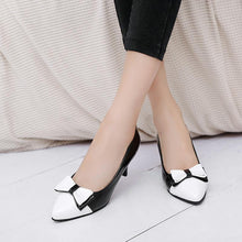 Load image into Gallery viewer, Pointed Toe Bow Tie Stiletto Heel Pumps
