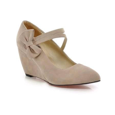 Casual Women's Butterfly Knotted Platform Wedges Shoes