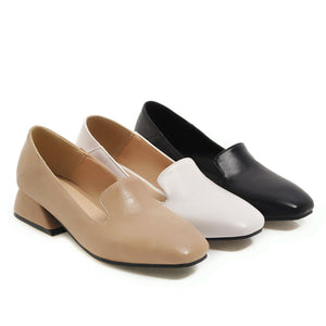 Girls's Square Head Low Heeled Pumps