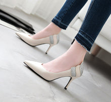 Load image into Gallery viewer, Sequined Stiletto Heel  Pointed Toe Stiletto Heel  Pumps