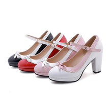 Load image into Gallery viewer, Bowtiel High Heeled Platform Pumps