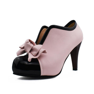 Women's Chunkey Heel Pumpssweet Bow High Heel Shoes